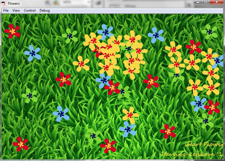 Screenshot of the Flowers Application