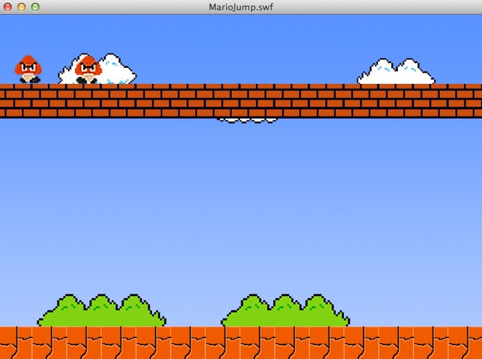 Screenshot of the MarioJump Application